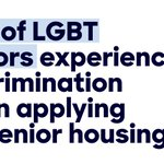LGBT seniors have seen so much progress, but still face discrimination. This has to change. https://t.co/fUCyqi07zY