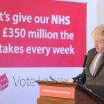 Make this go viral so Boris Johnson has to admit he lied about giving £350M p/w to the NHS #EUreferendum #lies https://t.co/RTbGChzuTG