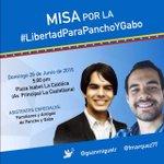 Mañana domingo 26, 5pm, La Castellana, Misa por la libertad de Pancho y Gabo, presos políticos por luchar por el RR! https://t.co/eUN38g5EMZ