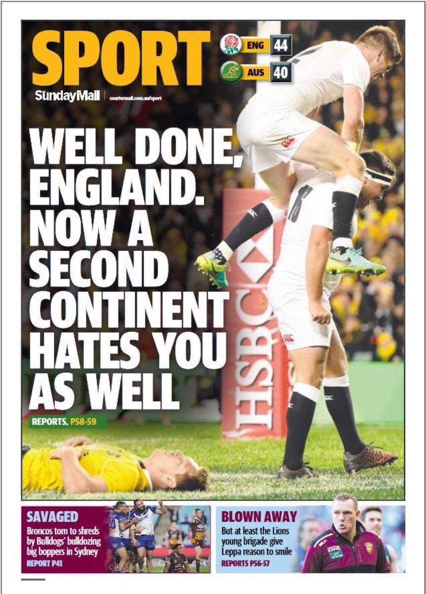 A bit of Aussie humour after a series whitewash. #EngvAus @EnglandRugby https://t.co/tlY0CnTRPO