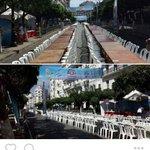 مؤثر ، أكبر افطار جماعي بالجزائر امتد على عدة شوارع اشترك الجيران في اعداده وتقاسمه . اللهم وحد الصفوف وصف القلوب 🙏🙏 https://t.co/cdxj0R7rts