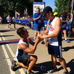 A very special finish for these two #FRNYPrideRun runners. Congratulations!! #lovewins #pride https://t.co/5qp44ZmheZ