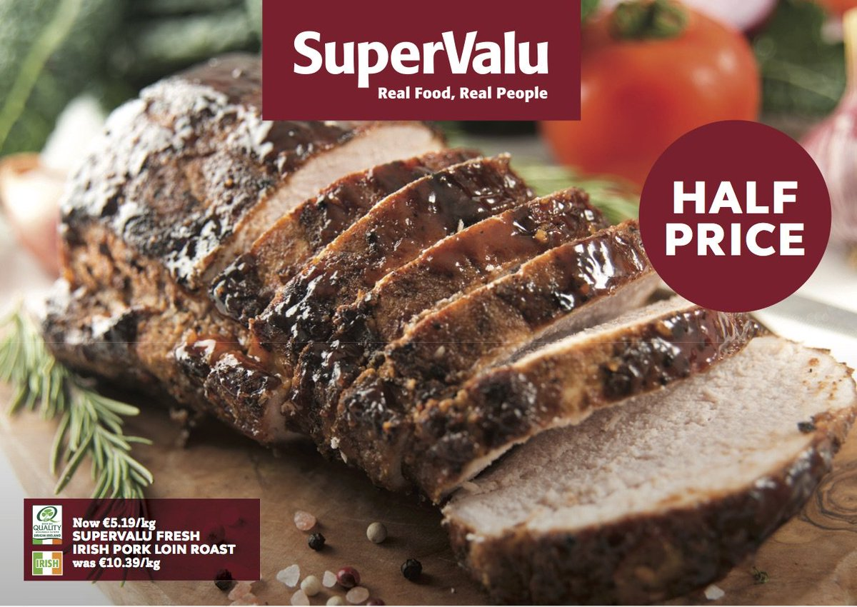 Fresh quality Irish produce- quality Irish Pork Loin is half price and in store 23 - 26 June! https://t.co/jTWcGSGe1B