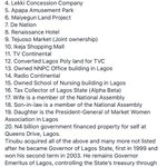 Just saw this on Facebook. Before 1999, Tinubu didnt have any of this. EFCC has not frozen any of his accounts. https://t.co/rwdLO86682