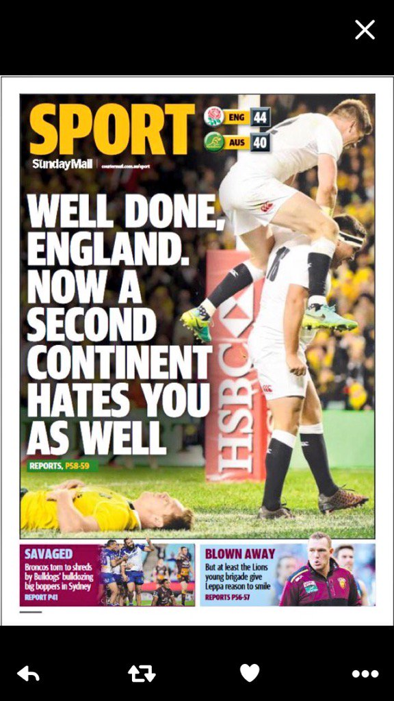 Australians never take defeat graciously.... #Brexit #eng https://t.co/xqkQsBm7Jm