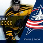Congrats to incoming d-man Andrew Peeke, who was selected 34th overall by Columbus in the #NHLDraft!  #GoIrish https://t.co/YZMQfsQNp4