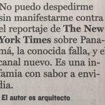 Párrafo de cierre de artículo del  Arq. Rodrigo Mejía-Andrión en su columna semanal Plano Urbano en La Prensa de hoy https://t.co/DudJRb0k2l
