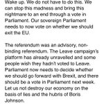 Wake up. We do not have to do this. We can stop this madness through a vote in Parliament. My statement below https://t.co/V8f9Yo1TZd