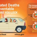 """HEAT ADVISORY in effect today...important to """"look before you lock."""" Pets/people cant be left in cars! #alwx https://t.co/8DUsR6cRwU"""
