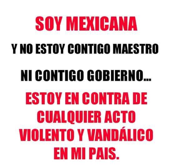 Esta si es mi postura en Oaxaca.  Basta de usar el Magisterio de excusa. https://t.co/XaerlBmqLW