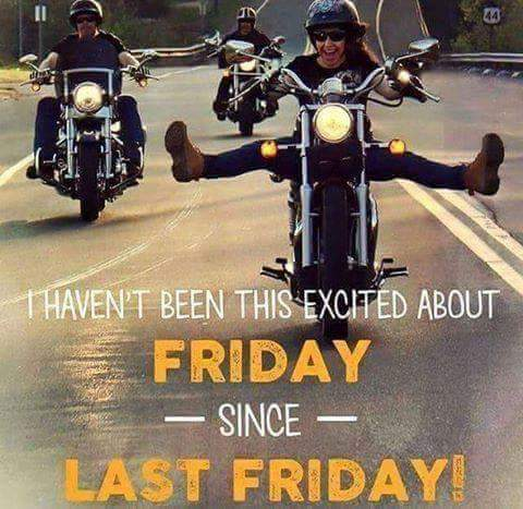 "YES! its Friday - Let's ride... Events https://t.co/wFUo3DCmmS or ""Places"" tab to biker friendly places map and go! https://t.co/EpgJEHfko3"