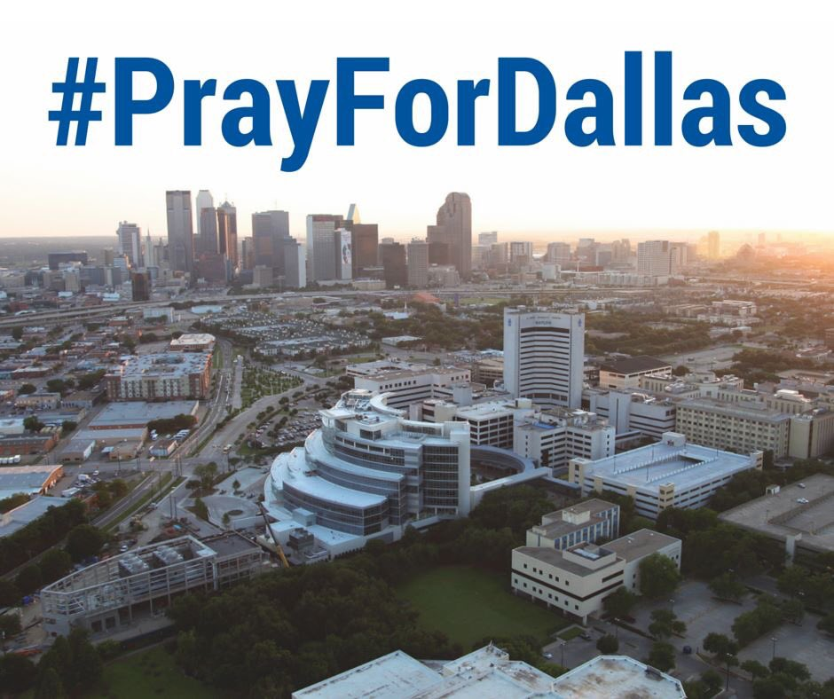 Pray for Dallas and the people affected by the shooting. Pray for God's peace to reign in this city. #PrayForDallas https://t.co/jFZpDv2OJu