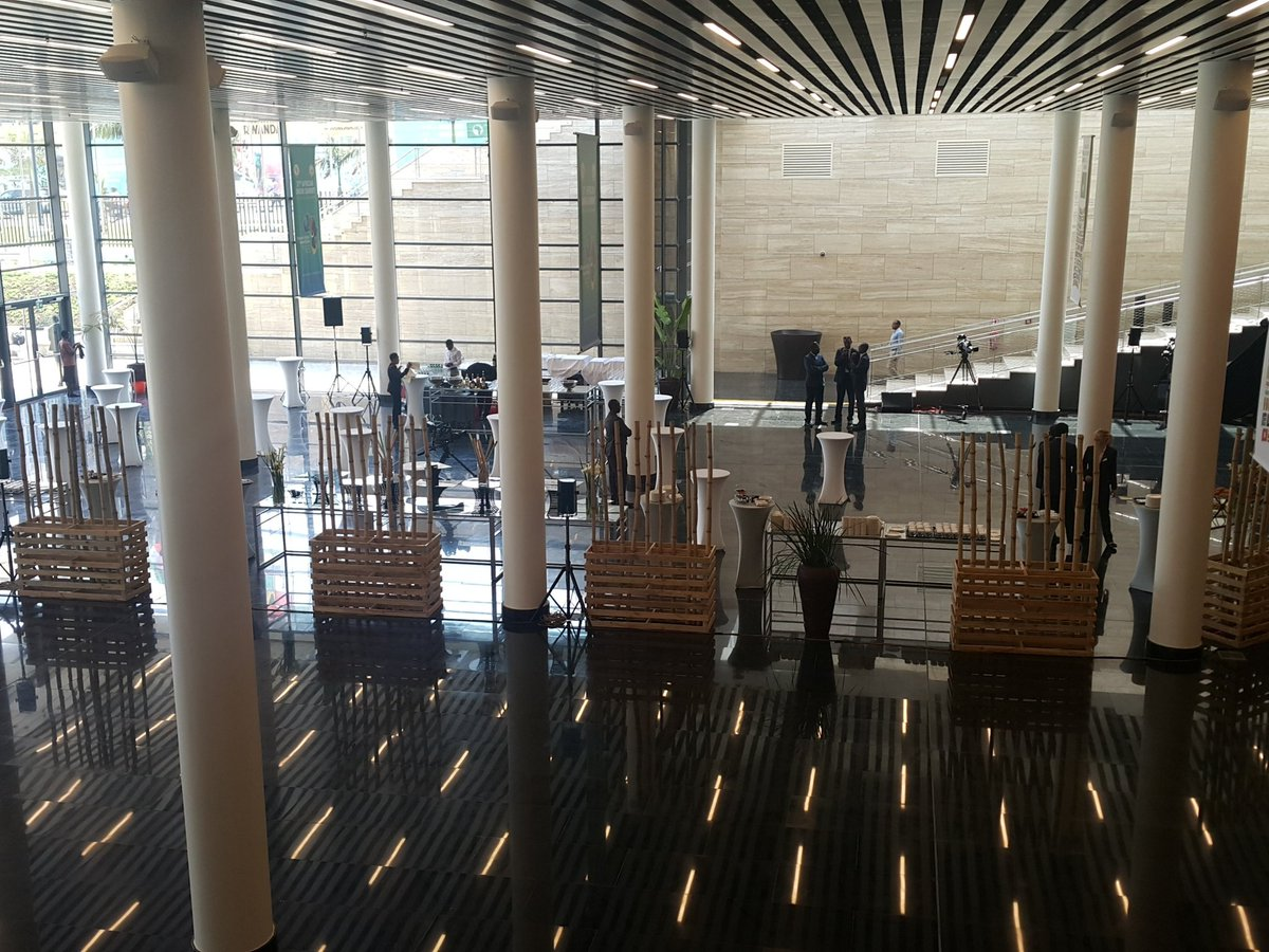 Foyer area. Where the launch is to take place. #kigaliconvention #kcclaunch #myafrica #rwot https://t.co/4KH7ejap28