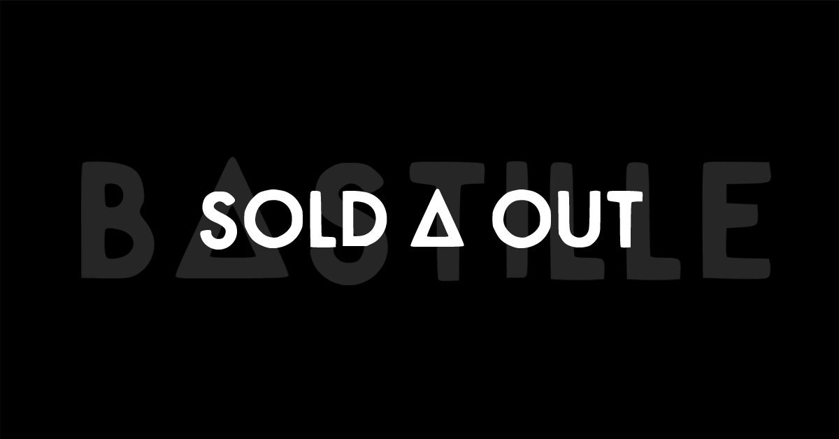 @bastilledan tickets are officially SOLD OUT. We'll see you 29.10.16. Holey MOLEY are we excited! #WildWildWorldTour https://t.co/HtzljDtRLG