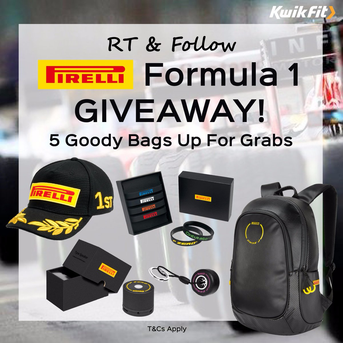 Getting excited about the #BritishGP? RT+F to #WIN a #Formula1 goody bag! #competition T&Cs https://t.co/1n1B216pmj https://t.co/3fy3TMKCDw