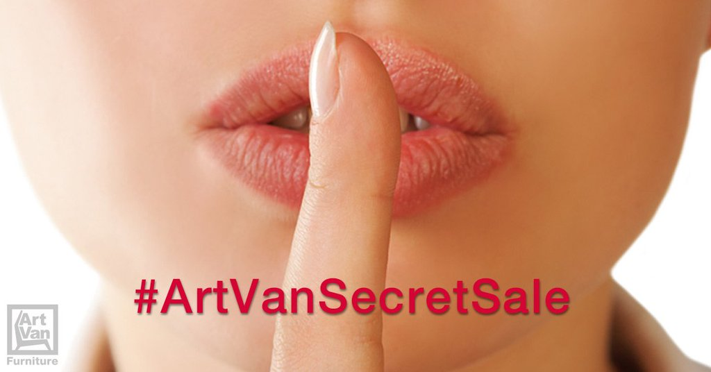 Shhhhh... it's the #ArtVanSecretSale! RT to #EnterToWin our $1,000 Daily Drawing! https://t.co/gZtkvnylT9 #Furniture https://t.co/nRfeZgkAFo