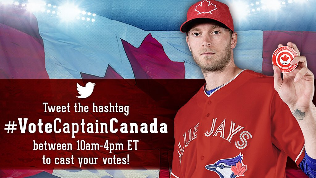 Tweet the hashtag #VoteCaptainCanada to help us get Saunders to the All-Star game! https://t.co/5w2UALjyp4