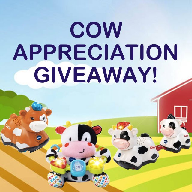 It's Cow Appreciation Day! Retweet for a chance to win our Cow prize pack. #Giveaway ends 5pmCST 7/8/16 (US Only) https://t.co/poqvWdBAzI