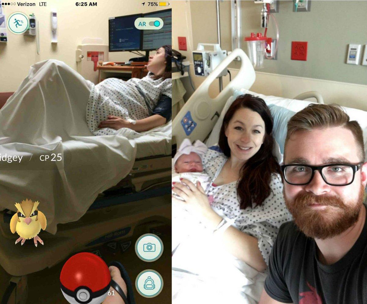 #oViral #PokémonGO Homem captura #pokémon durante trabalho de parto da esposa https://t.co/6cNp19x9CF https://t.co/78DhiJH7Fq
