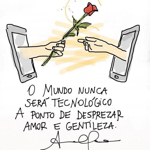 """""""O mundo nunca será tecnológico a ponto de desprezar amor e gentileza."""" Ana Clara Tissot - Bom fim de semana!"""