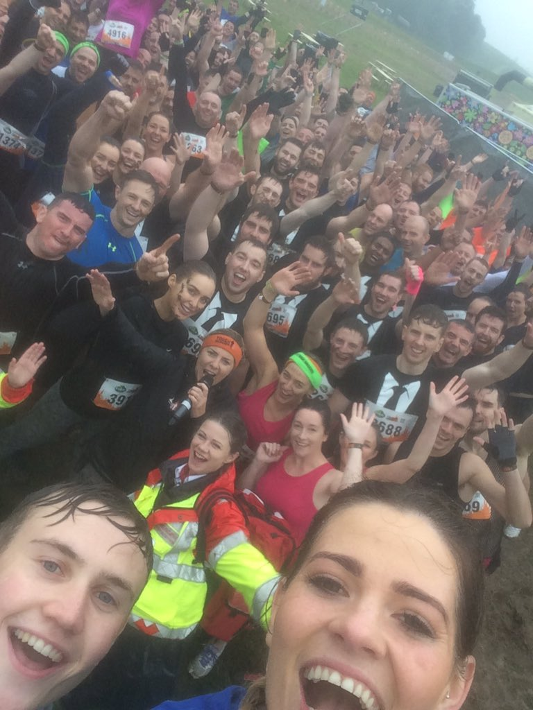 Here's our #ToughMudder warm up selfie. #Where'sRoz #MyAwesome https://t.co/K8M1zo6k7P