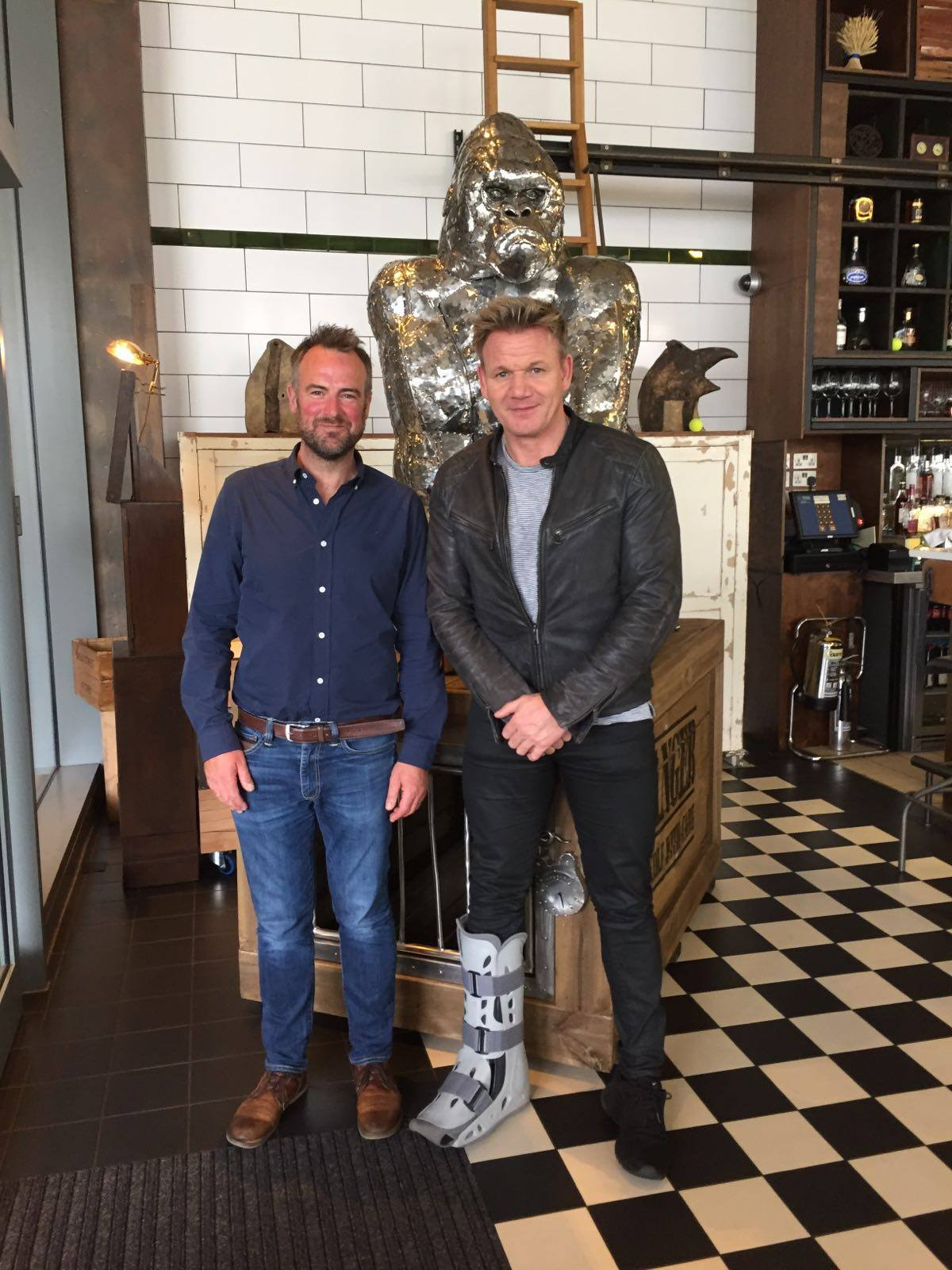Grt to meet @GordonRamsay @breadstkitchen, Amazing food, top hospitality, so pleased to see Gorgon Solso's a hit! https://t.co/84oWqBOkzQ