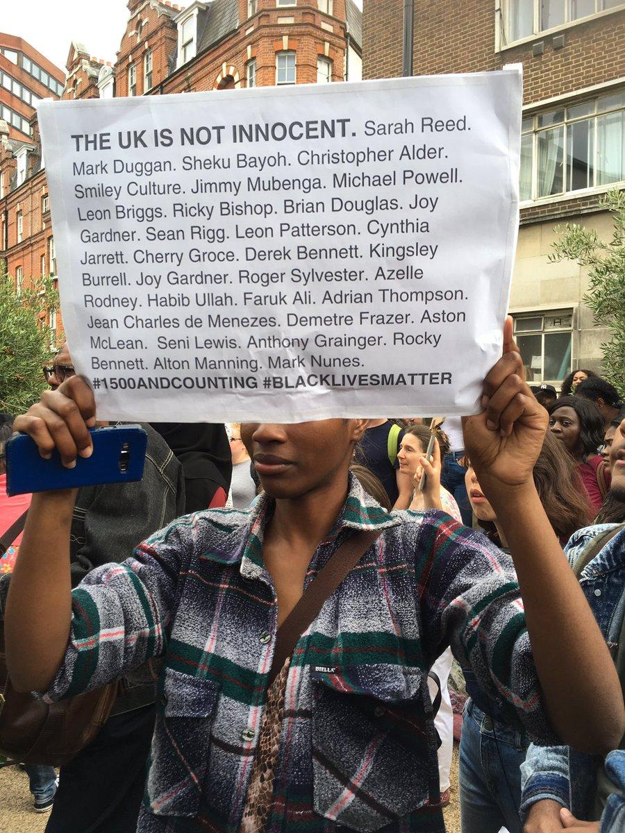 UK is not innocent #BlackLivesMatter #London https://t.co/GuURI0RJy6