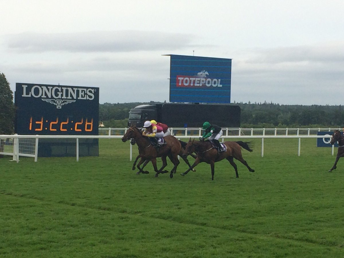A close finish but Cudlic Verona gets up to win under James Bowen in the 148cm @CharlesOwenHats race at @Ascot. https://t.co/7F2VMp6x4D