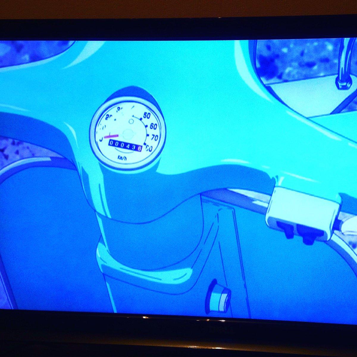 実車が描かれる。それは小さな幸せ😍#あまんちゅ #走行距離43km #ベスパ #vespa