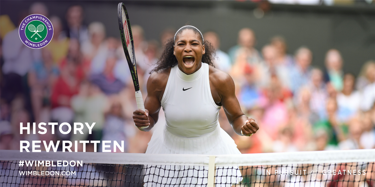 Champion. Again.   Serena Williams joins Steffi Graf on 22 Grand Slam titles after clinching a 7th #Wimbledon crown https://t.co/jSa3cVY54X