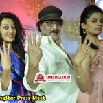 RT @cineloka: #DancingStar TV Show Press-Meet Snaps - 1  #CrazyStarRavichandran @priyamani6  @MayuriUpadhya  @ColorsKannadaTV https://t.co/…