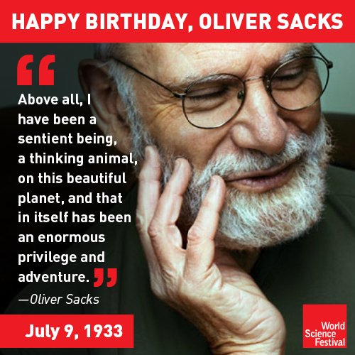 Happy birthday to our friend, @OliverSacks. Thank you for sharing your enormous adventures with us! https://t.co/OEu3jt8bRC