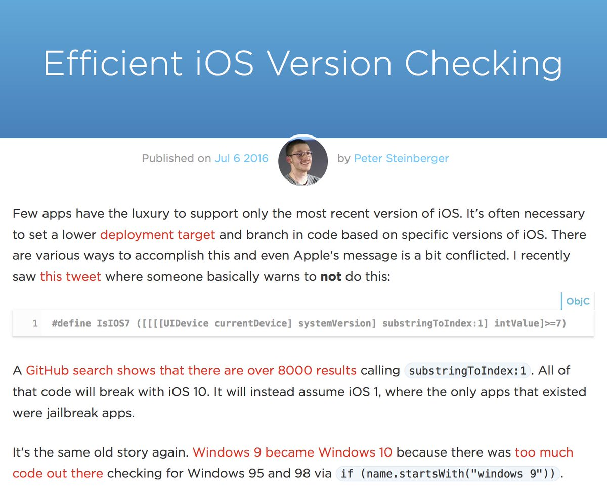 Efficient iOS Version Checking #SwiftLang https://t.co/TUVcPjQDBN https://t.co/ivPz8POKO6