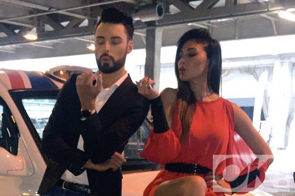 Aww - @Rylan and @NicoleScherzy reunited during X Factor filming: