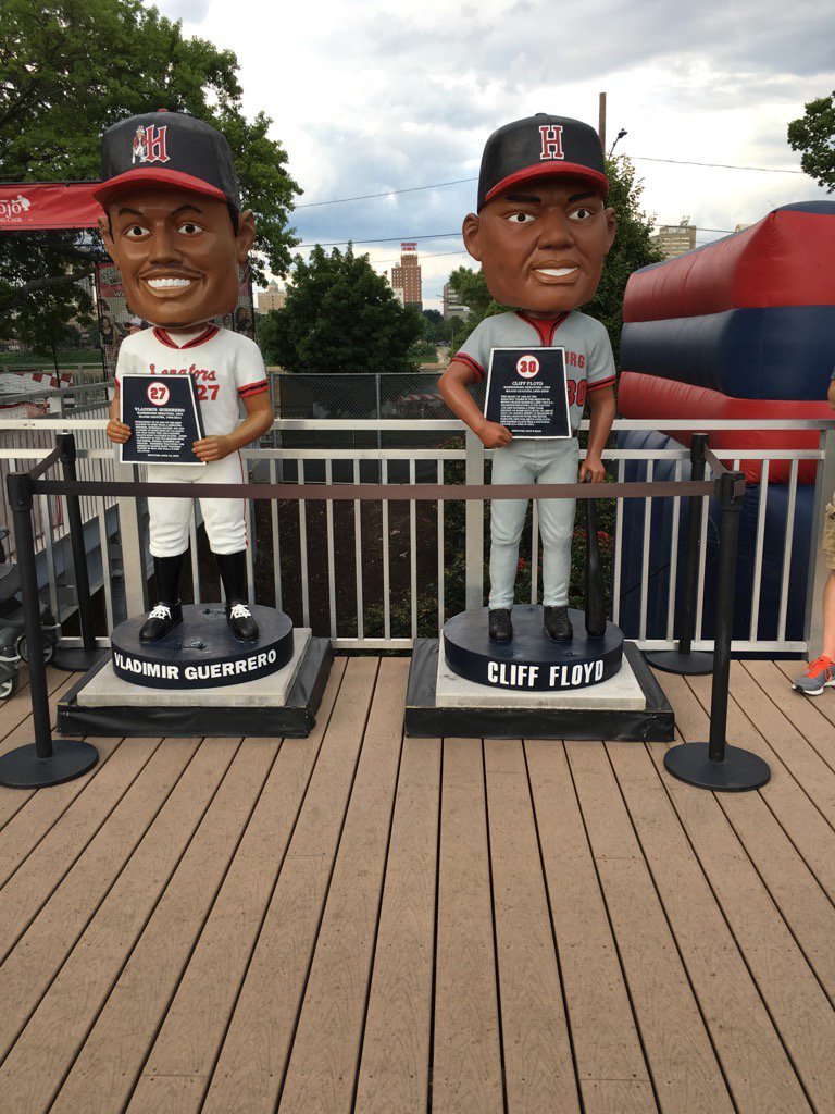And now @VladGuerrero27 isn't lonely! Welcome @CliffFloyd30! #LifeSizeBobbles  #HbgSens https://t.co/SJX5ikUBOx