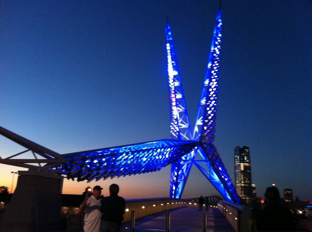 Tonight the Skydance Bridge will be lit blue in honor of the slain @DallasPD and DART officers. @OKCPD https://t.co/c0WR13IXQg