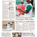 Jaylon Smiths visit to Mondays TinCaps game tops the front page of todays sports section. https://t.co/DyiLBxG3l0