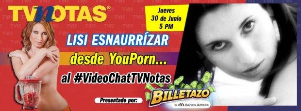 Después de YouPorn... ¡al #VideoChatTVNotas! No te pierdas a Lisi Esnaurrízar. https://t.co/wtW8ufL4XE https://t.co/02vos5pTSn