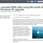 【仕事に支障】Windows 10の自動アップグレード問題、マイクロソフトが賠償金支払う 米 https://t.co/5IGW4m7sPA 1か月以上PCを使えなくなった女性が訴えを起こし、約100万円を勝ち取りました。 https://t.co/YjoRFGpOjA