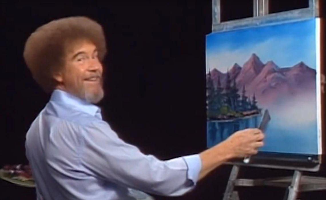I am so happy Bob Ross is on @netflix! https://t.co/Bh9wzVvJzs