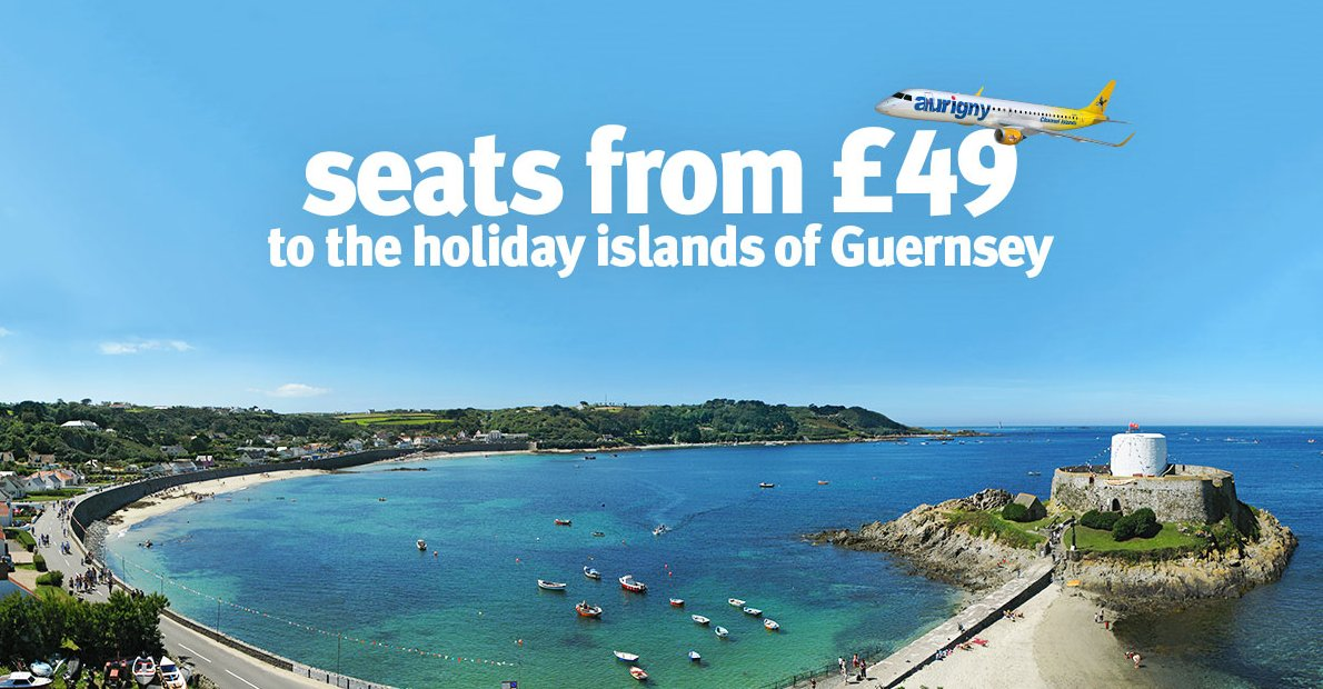 Don't miss out! Book by Friday Manchester - Guernsey for £49 one way T&C's apply.