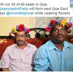 Will win 35 of 40 seats in Goa, @AamAadmiParty will form next Goa Govt says @ArvindKejriwal #AKinGoa https://t.co/pULlQKPvaE