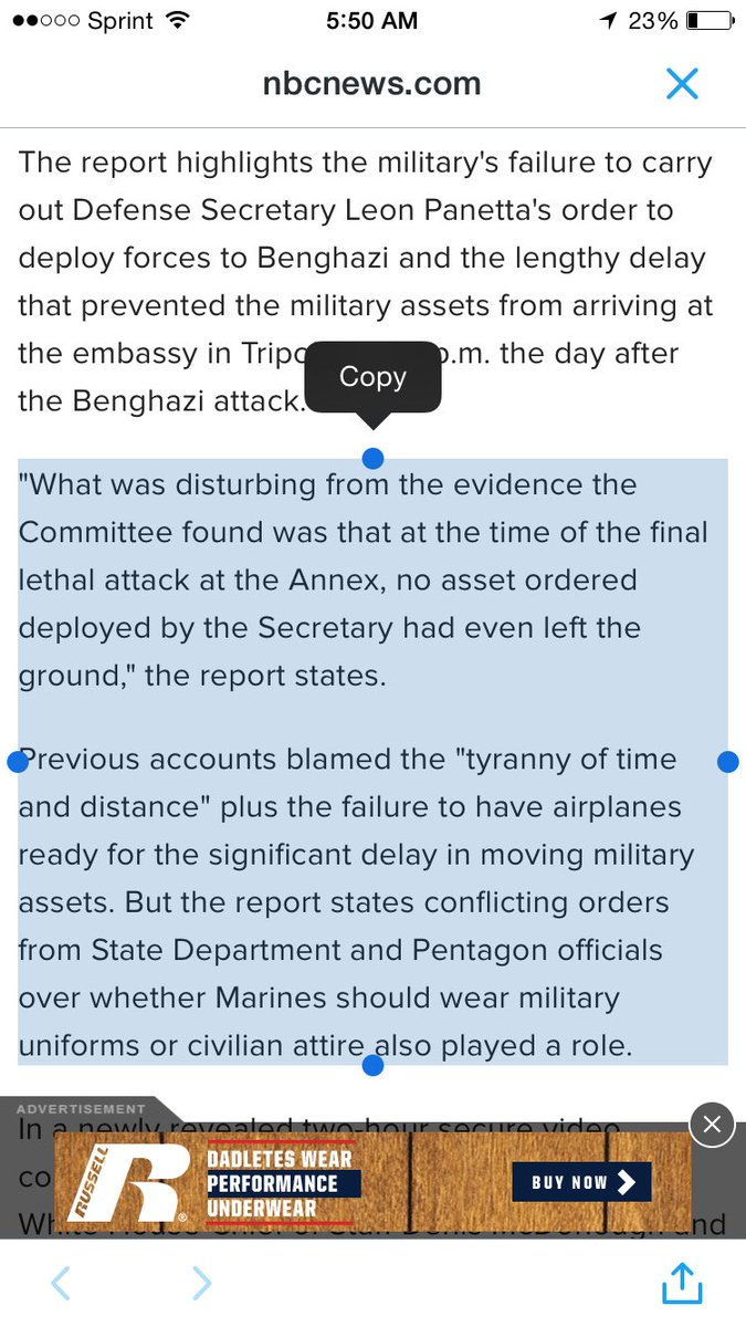 Most damning part of the Benghazi report for Clinton (via NBC) https://t.co/ELb2dW3fUU