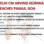 #AKinGoa Delhi CM @ArvindKejriwal reaches Goa, says AAP confident of winning 35 out of 40 seats @AAPGoa https://t.co/J0D9cF3KJW