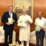 PM Shri @narendramodi releasing a book 'The Birds of Banni Grassland'. https://t.co/pZ7jIu4dQv