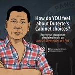 Join our Twitter conversation on Dutertes Cabinet today at 4 PM! Use #DuterteCabinet! https://t.co/D1vJOi5iPh