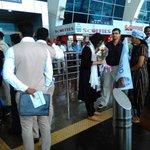 @AamAadmiParty Goa Convenor @aaprajeshree waiting for @ArvindKejriwal welcome at Goa Airport #GazaliWithAK https://t.co/xtUFTfjPxT