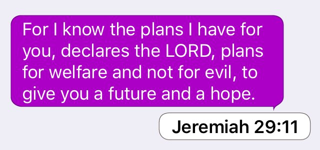 Jeremiah 29:11: For I know the plans I have for you, declares the LORD, plans... https://t.co/YIckhj26zn