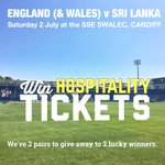 WIN 1 of 2 pairs of hospitality tickets to the #ODI England v Sri Lanka cricket @TheSSESWALEC. RT to enter the draw. https://t.co/vHCWBdXJAE