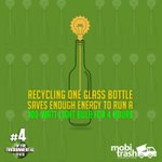 RT @mobitrashIN: Recycling glass generates a good amount of power and energy which can be converted to electricity. #wastemanagement https:…